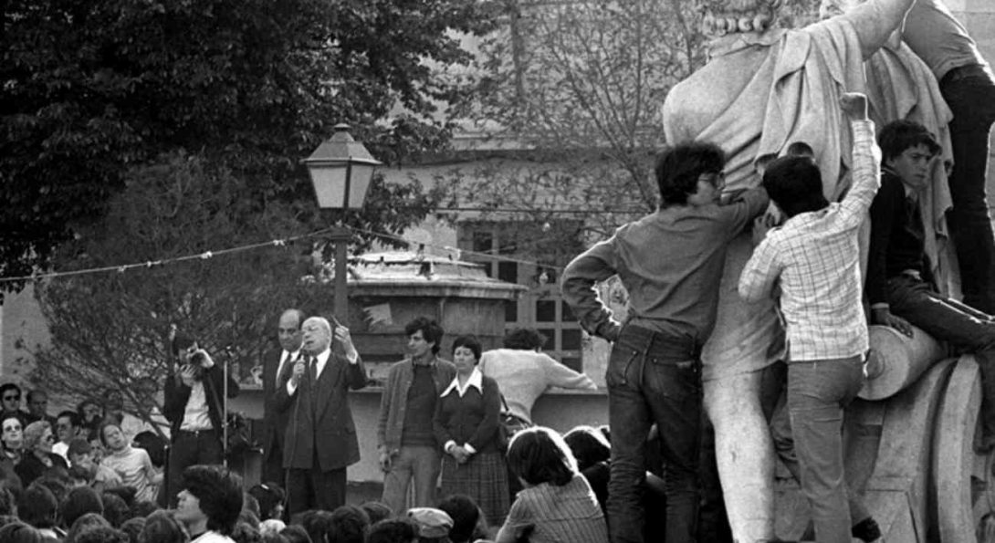 Tierno Galván Fiestas Plaza 2 Mayo 1979