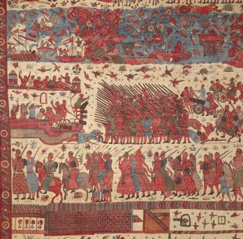 Indian textile depicting European conflict
