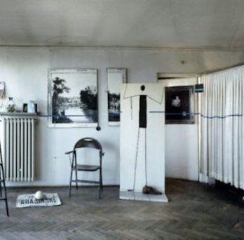 Edward Krasiński's studio flat in Warsaw, c. 1970. Photo courtesy Foksal Gallery Foundation, Warsaw.